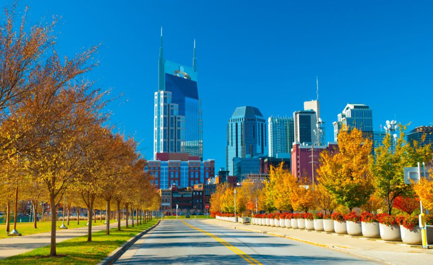 Fall Activities in Nashville Like Enjoying the Colorful Leaves and Skyline